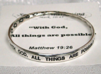 All Things Are Possible Bangle Bracelet
