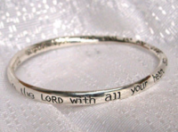 Trust in the Lord Bangle Bracelet